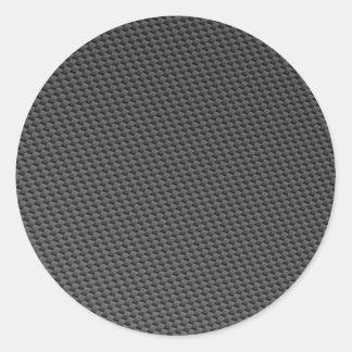 Material de la fibra de carbono pegatina redonda