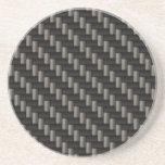 Material de la fibra de carbono posavasos para bebidas