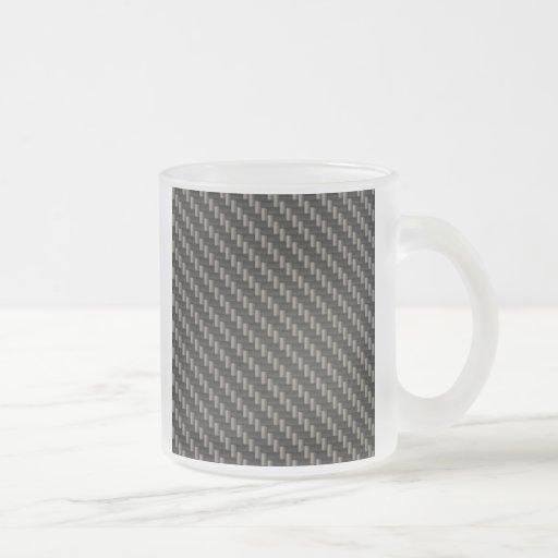 Material de la fibra de carbono taza cristal mate