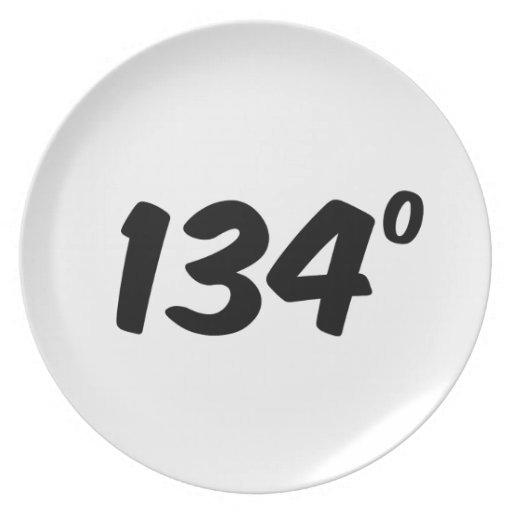 Material de primera 134 grados de ingenioso plato de cena