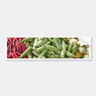 Material de primera - pimientas de chile africanas pegatina para auto