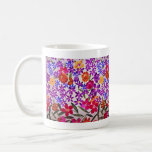 Material floral del paño taza de café