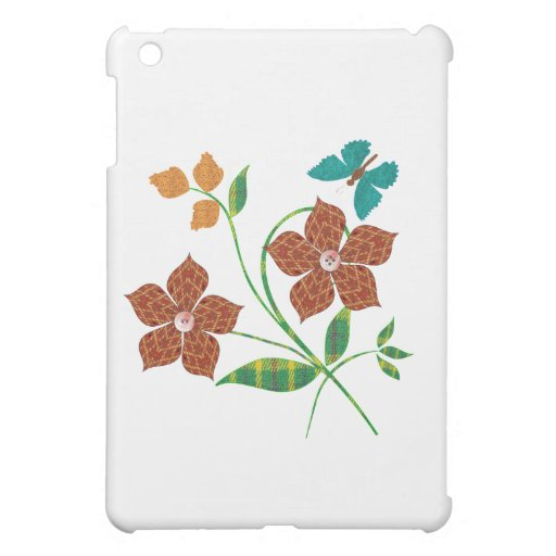 Material Flowers Cover For The iPad Mini