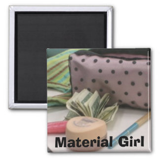 Material Girl 2 Inch Square Magnet