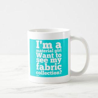 Material Girl - Cyan Coffee Mug