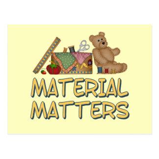 Material Matters Postcard