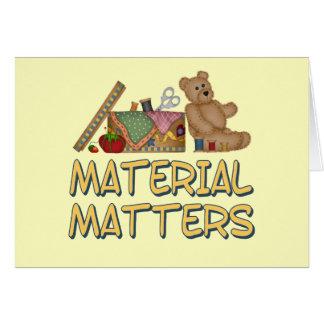 Material Matters Sewing Humor Card