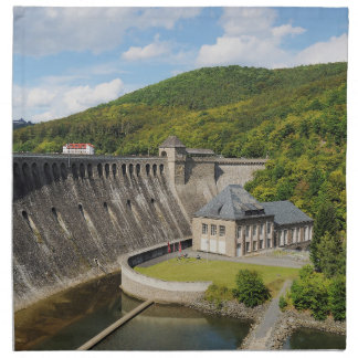 Material napkins Edersee concrete dam in the