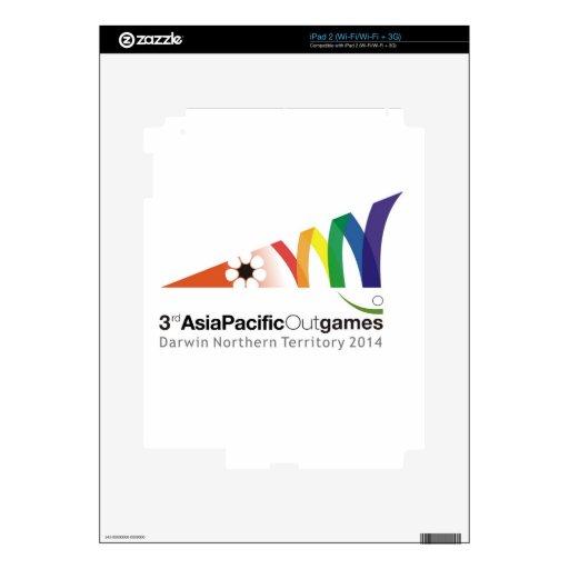 Material promocional 3ro Asia Pacific Outgames iPad 2 Calcomanías