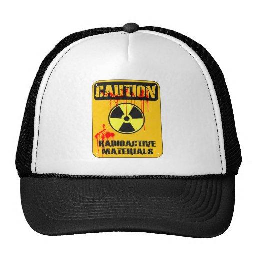Material radioactivo de la precaución gorros