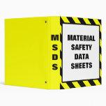 Material Safety Data Sheets 3 Ring Binder
