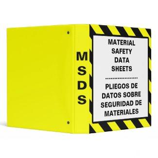 Material Safety Data Sheets Bilingual Binder binder
