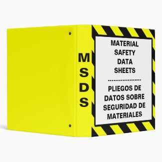Material Safety Data Sheets Bilingual Binder