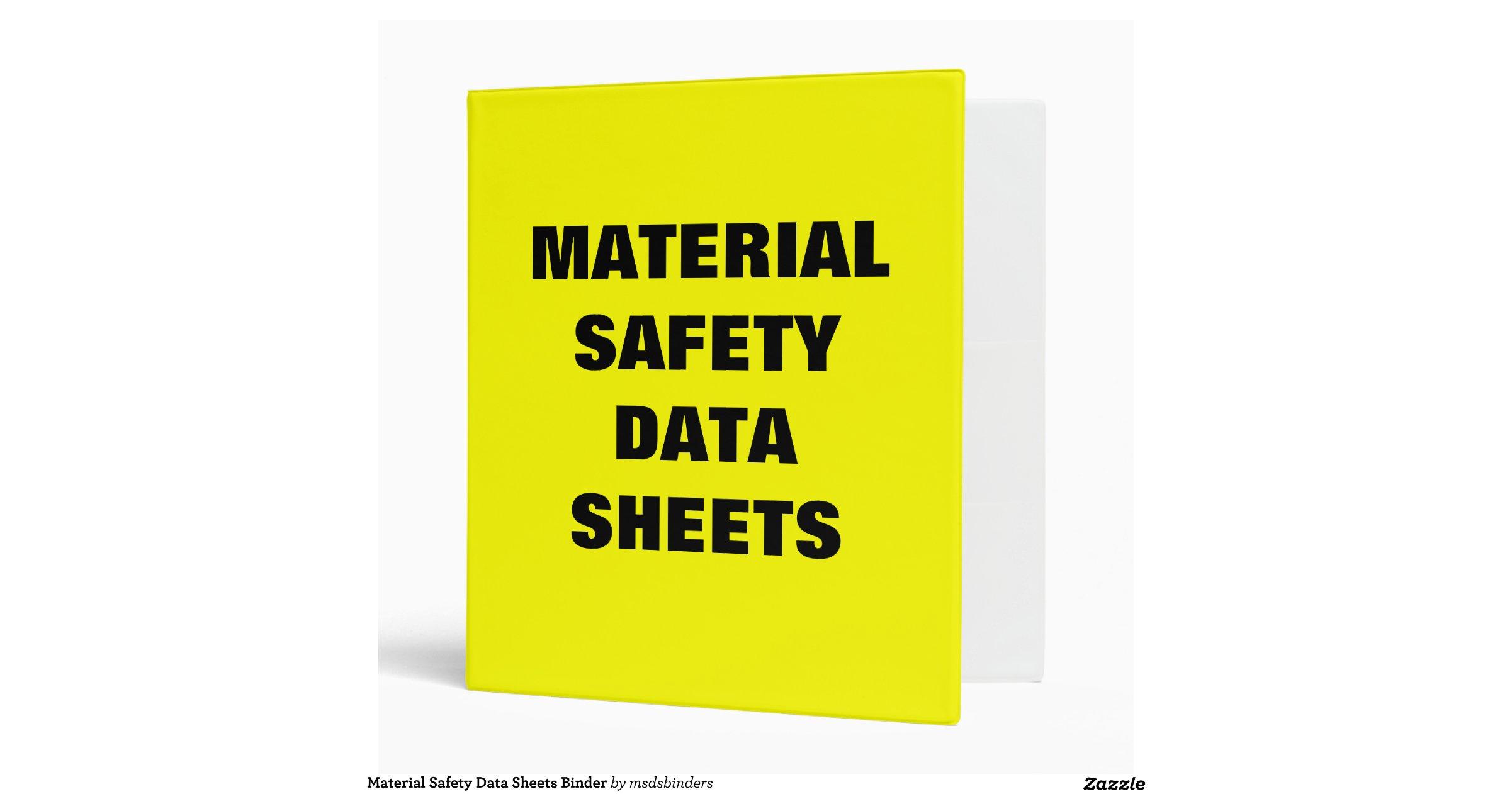 material safety data sheets binder. Black Bedroom Furniture Sets. Home Design Ideas