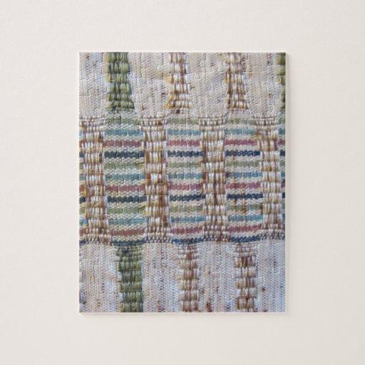 Material tejido puzzle con fotos