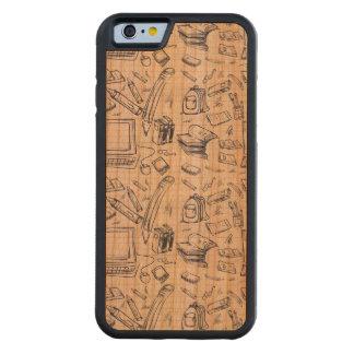 Materiales de oficina artsy funda de iPhone 6 bumper cerezo