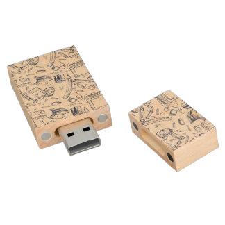 Materiales de oficina artsy pen drive de madera USB 2.0