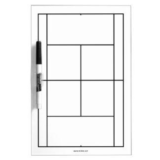 Materiales del campo de tenis para las lecciones e pizarras blancas de calidad