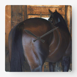 Materiality Florida Derby Winner Square Wall Clock