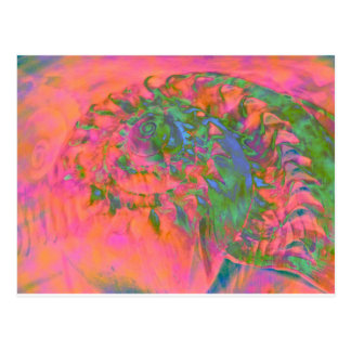 Materialization of a Shell Vibrant Abstract Postcard