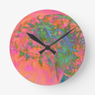 Materialization of a Shell Vibrant Abstract Round Clock