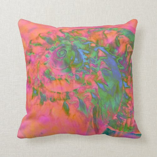 Materialization of a Shell Vibrant Abstract Throw Pillow