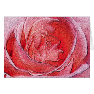 Materialized Red Rose - Computer generated effect Card