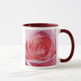 Materialized red rose - Size mug 11oz