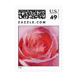 Materialized red rose - Size S Vertical Postage Stamps