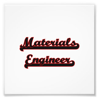 Materials Engineer Classic Job Design Photo Print