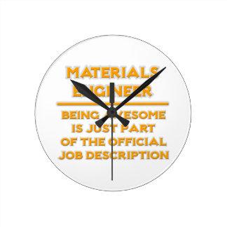Materials Engineer ..  Job Description Round Clock