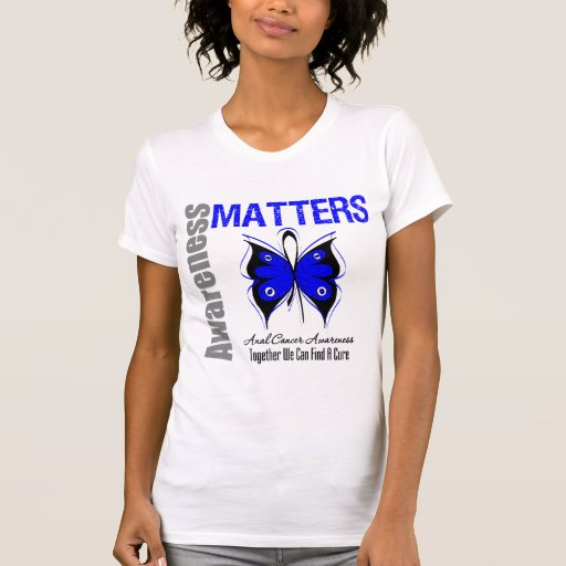 Materias anales de la conciencia del cáncer camisetas