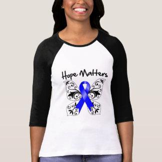 Materias anales de la esperanza del cáncer camisetas