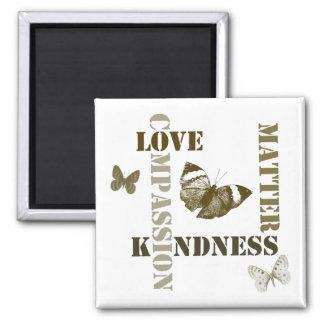 Materias de la amabilidad imán de frigorífico