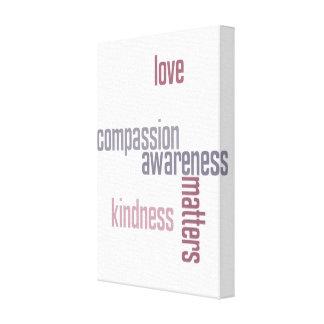 Materias de la amabilidad impresión en lienzo estirada