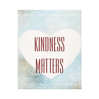Materias de la amabilidad impresión en lona