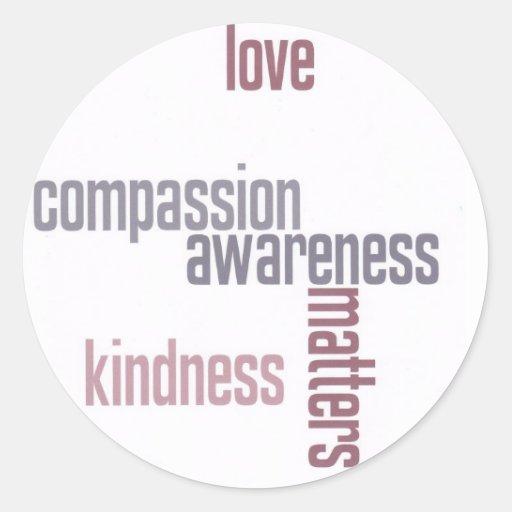 Materias de la amabilidad pegatinas redondas
