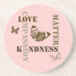 Materias de la amabilidad posavasos para bebidas