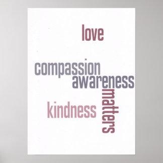 Materias de la amabilidad póster