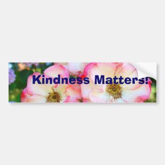 ¡Materias de la amabilidad! rosaleda de las pegati Pegatina De Parachoque