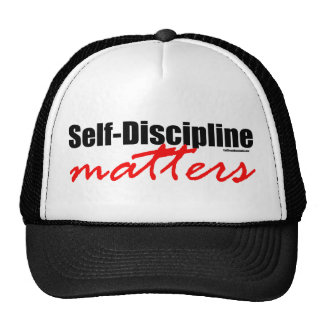 Materias de la autodisciplina gorro de camionero