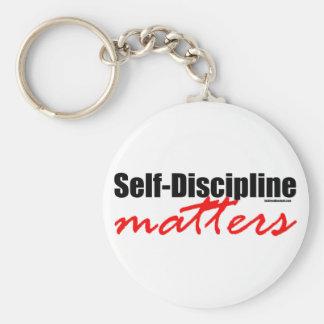 Materias de la autodisciplina llavero redondo tipo pin