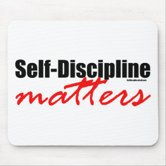 Materias de la autodisciplina mouse pad