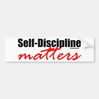 Materias de la autodisciplina pegatina para auto