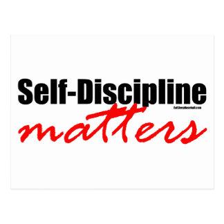 Materias de la autodisciplina tarjeta postal