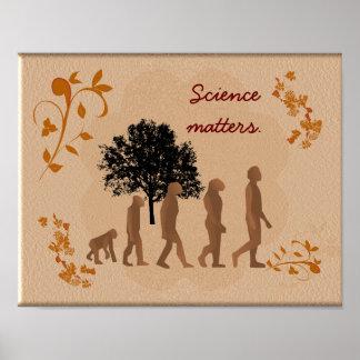 Materias de la ciencia - impresión del arte póster