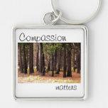 Materias de la compasión llaveros personalizados