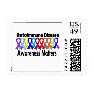 Materias de la conciencia de la enfermedad autoinm sellos