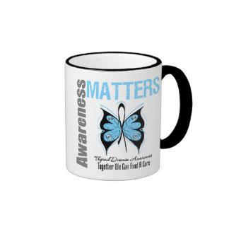 Materias de la conciencia de la enfermedad de taza de dos colores