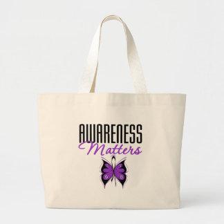 Materias de la conciencia de la epilepsia bolsas lienzo